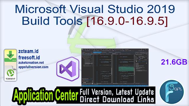 Microsoft Visual Studio 2019 Build Tools [16.9.0-16.9.5]_ ZcTeam.id