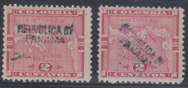 PANAMA 1903-04 ISSUED IN COLON