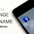 Facebook Name Change
