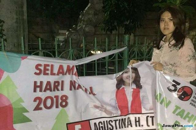 Tina Toon Sedih, Spanduknya Dirusak OTK di Malam Natal