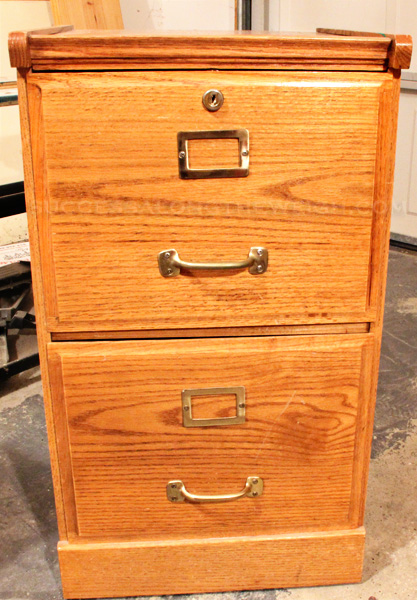 Diy Project Refinishing A File Cabinet, Wood File Cabinet Makeover