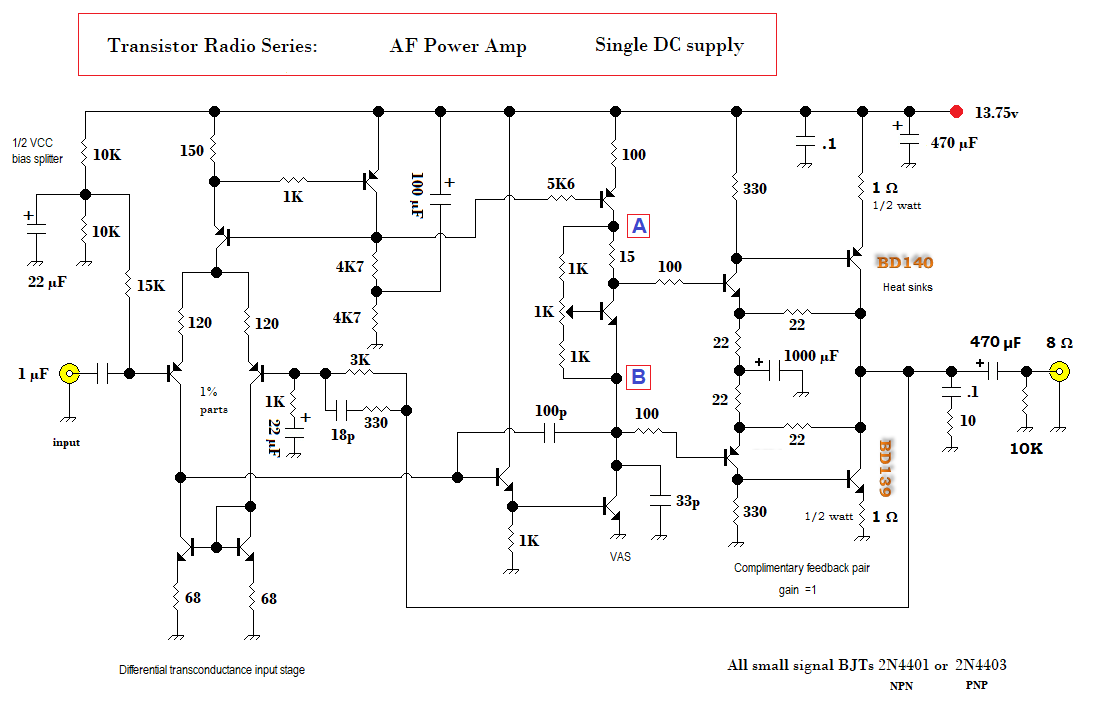Qrp Homebuilder Qrphb Microwave Transistor Amplifier A Circuit Diagram B Schematic Design Above Non Inverting Built With Transistors I Use Everyday In My Lab For Dc To Hf Projects Ever Popular Adopted The Classic 3 Stage Amp