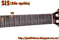 gráfico de acorde de quinta (5) en guitarra