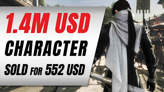 MMO Character worth $1.4 Million USD SOLD for only $552 USD • Crazy Gaming News