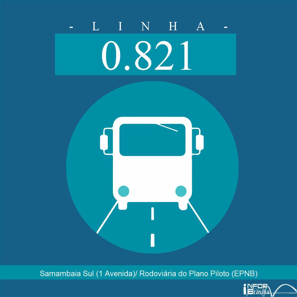 Horário de ônibus e itinerário 0.821 - Samambaia Sul (1 Avenida)/ Rodoviária do Plano Piloto (EPNB)