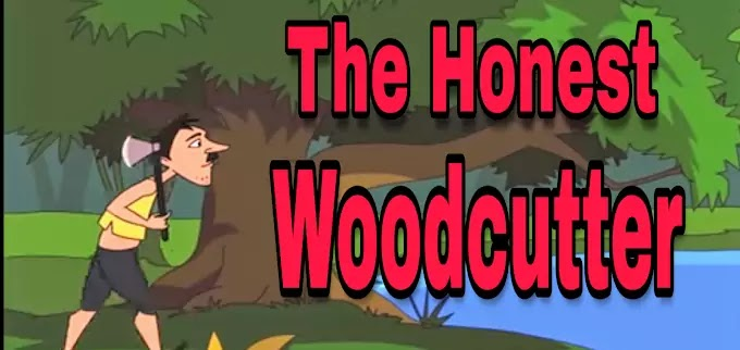 The Honest Woodcutter - Small  Bedtime English Stories For kids