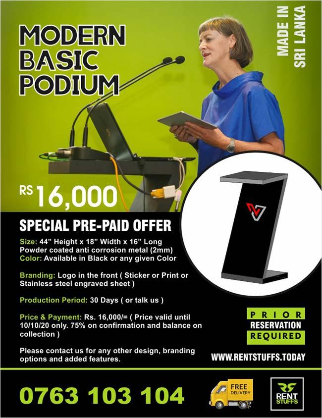 Modern Basic Podium for Sale.