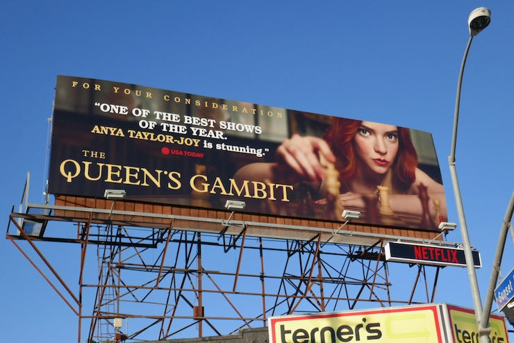 Anya Taylor Joy Queens Gambit FYC billboard