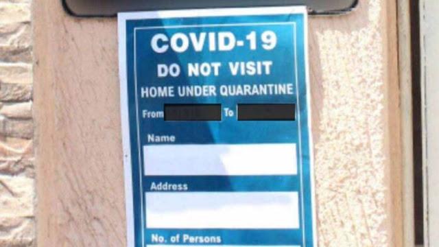बड़ी खबर : पॉजिटिव मरीजों और बाहर से आए लोगों के घरों के बाहर लगाए जाएंगे बोर्ड