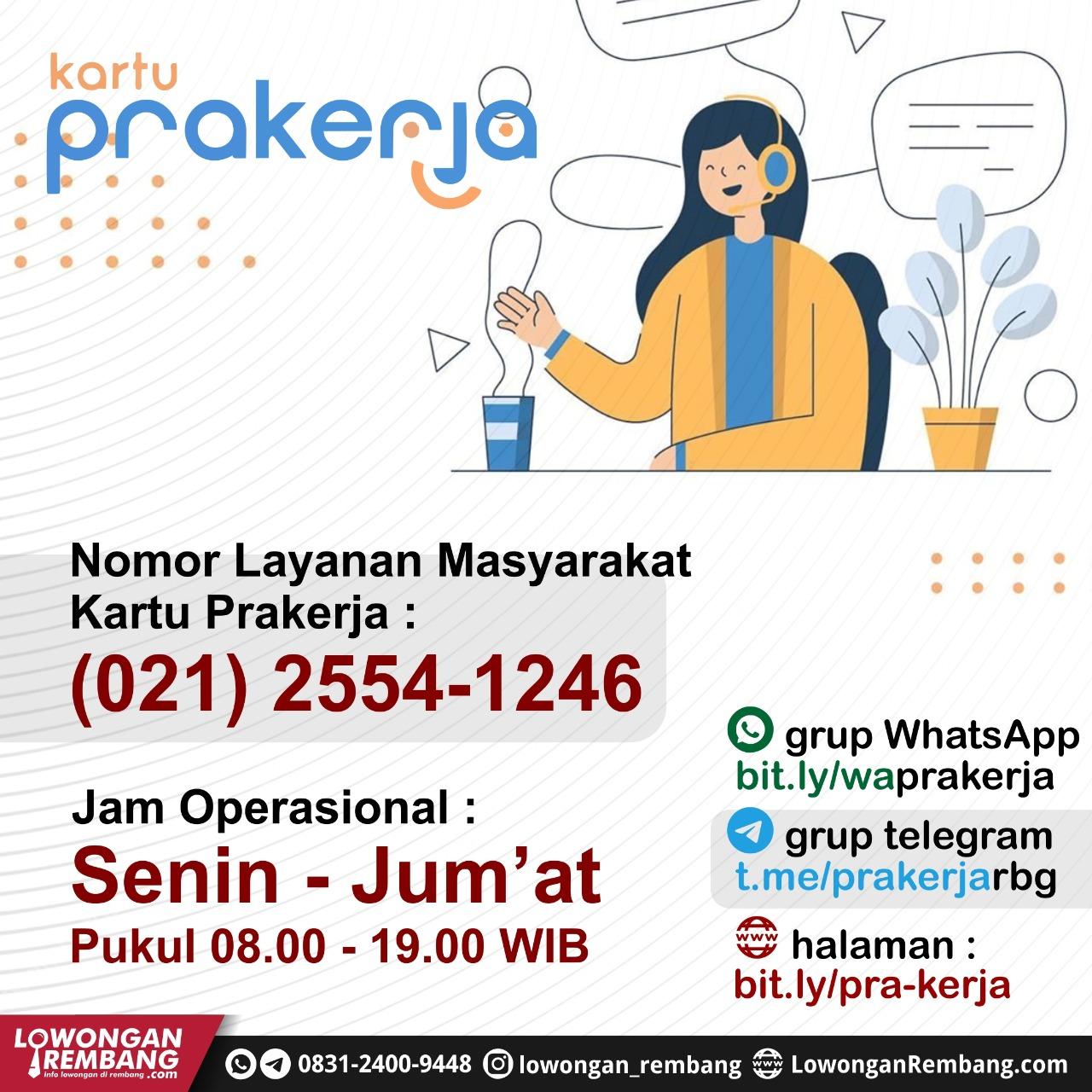 Nomor RESMI Layanan Masyarakat (Customer Service) Kartu Prakerja Indonesia