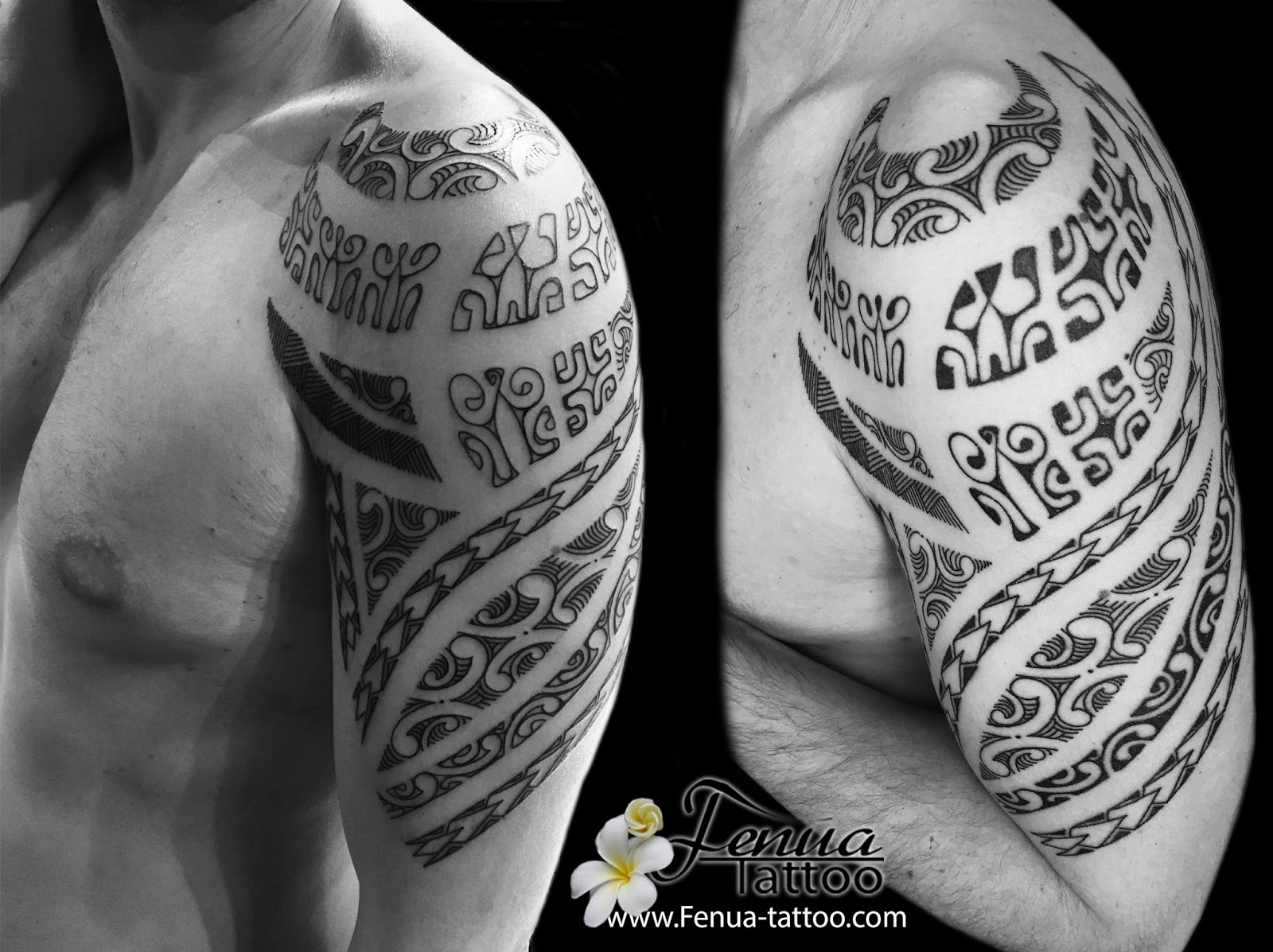 Tahiti tattoo sp cialiste du tatouage polynesien dot work et recouvrement tatouage polyn sien - Tattoo maorie bras ...