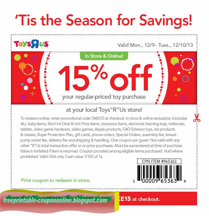 photo relating to Toysrus Printable Coupons identified as Printable Discount coupons 2019: Toys R Us Coupon codes