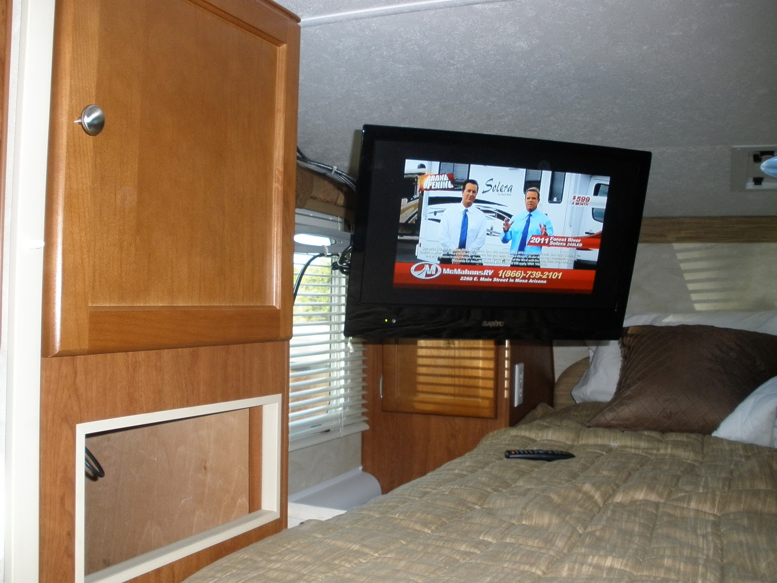 Sanyo Led Tv And Swivel Mount Installation Truck Camper
