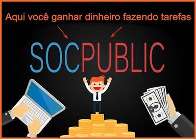 Ganhe dinheiro fazendo tarefas no Socpublic.
