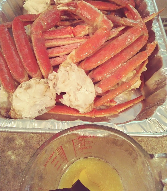 Grilled snow crab legs