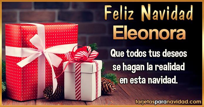 Feliz Navidad Eleonora