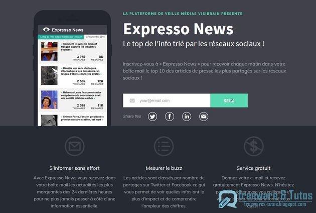 Expresso News : l'actualité triée par les réseaux sociaux