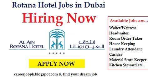 Rotana Hotel Jobs Vacancy in Dubai