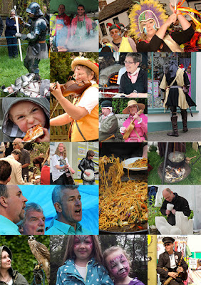 Montage of Lostfest in Lostwithiel, Cornwall