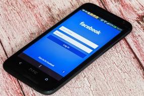 Facebook sign in screen