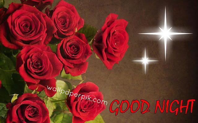 rose stars  good night images wallpaper download