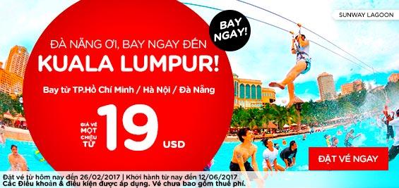 bán vé Air Asia bay đến Kuala Lumpur giá rẻ
