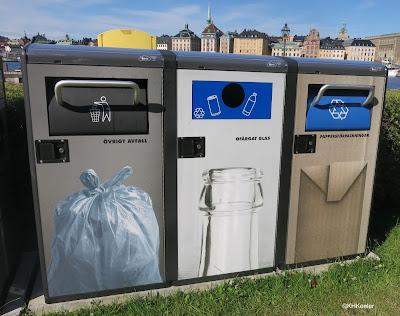 recycling bin, Stockholm, Sweden
