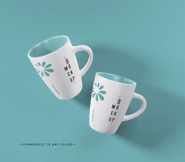 Coffee Mug PSD Mockup With Editable Color
