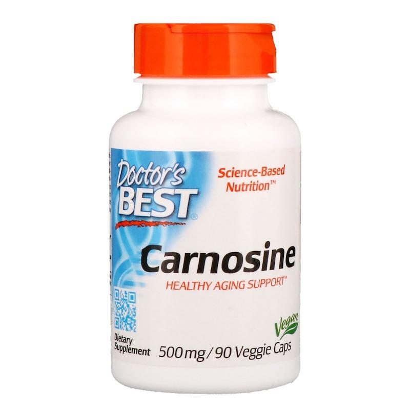 Doctor's Best, Карнозин, 500 мг, 90 растительных капсул