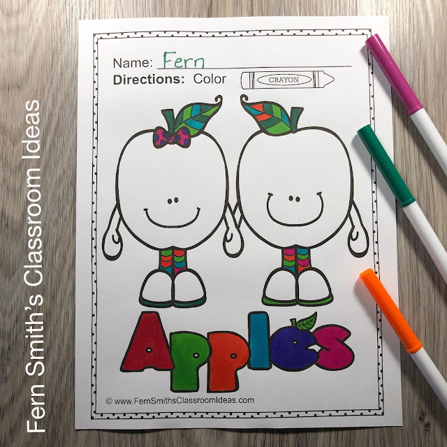 Click Here to Download This Apples Coloring Pages and Apple Craft Fun Resource for Your Classroom Today!
