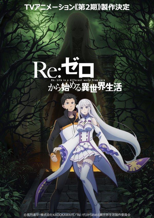 Póster de la segunda temporada de Re:ZERO