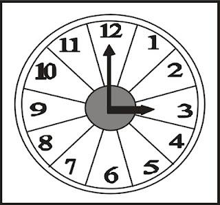 puzzle bentuk jam dari kertas karton tebal
