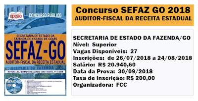 Apostila SEFAZGO Auditor-Fiscal da Receita Estadual
