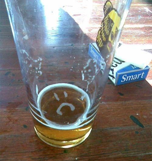 my beer is almost empty