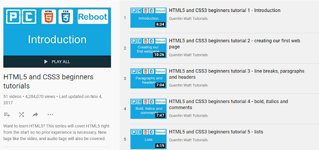 HTML5 And CSS3 Beginners Tutorials