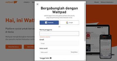 Cara Mendaftar Aplikasi Wattpad Bahasa Indonesia 2020, langkah mudah mendaftar akun wattpad indonesia, Cara Masukan gmail di wattpad, cara daftar wattpad dengan gmail, cara daftar wattpad dengan facebook, cara mudah daftar wattpad bahasa indonesia