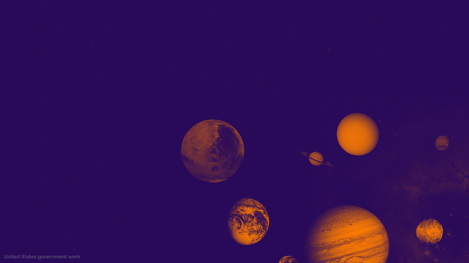 Planets in Space Background optimized for presentations