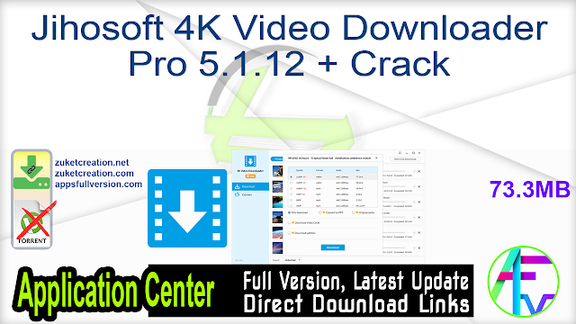 Jihosoft 4K Video Downloader Pro 5.1.12 + Crack