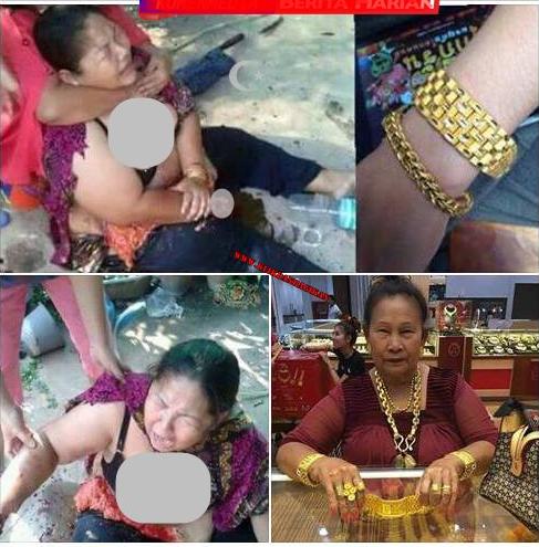 Bantu Sebarkan!!! Khusus Wanita, Berhati2lah Memakai Perhiasan Yang Mengundang Niat Jahat Seseorang, Baca Ini kalau tidak Mau Kejadian Seperti Ibu Ini