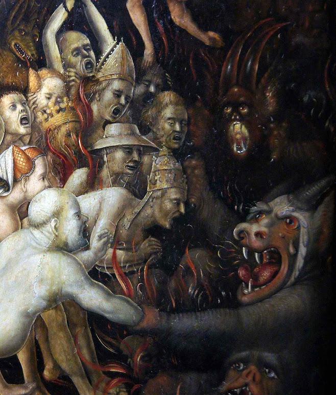 Detalhe do Juízo Final. Stefan Lochner (1410 –1451) Wallraf-Richartz-Museum, Colônia
