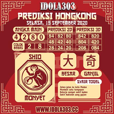 Prediksi Idola303 HK Selasa 15 September 2020