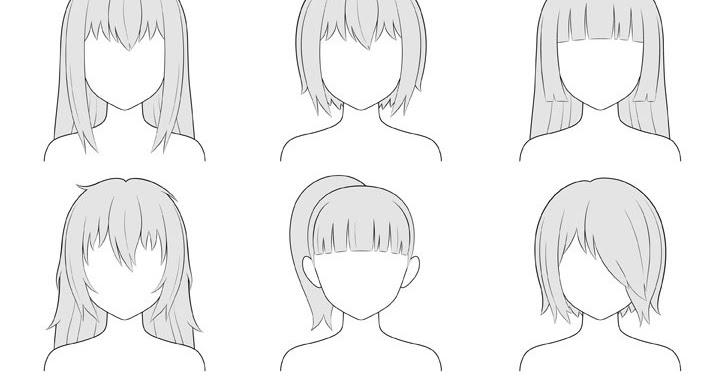 Cara Menggambar Rambut Anime Dan Manga Untuk Karakter Cewe ...