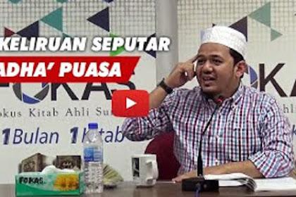 Definisi Puasa Qada dan Lapaz Niatnya