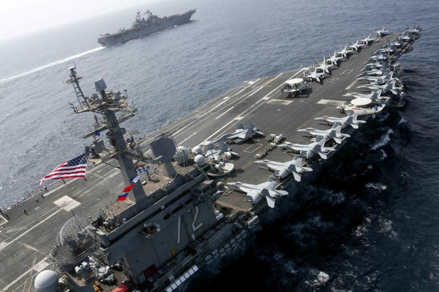 2 Kapal Induk AS Muncul di LCS, China Tak Berkutik