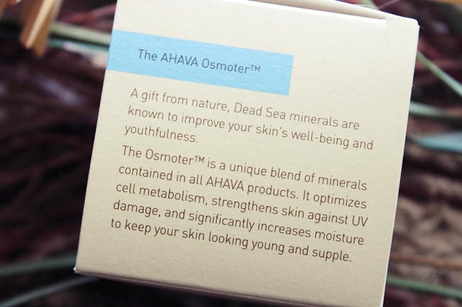 Ahava Osmoter products and Ahava best face creams