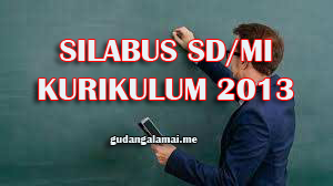 Silabus Tematik Kelas 1 SD/MI Kurikulum 2013 Tahun 2021