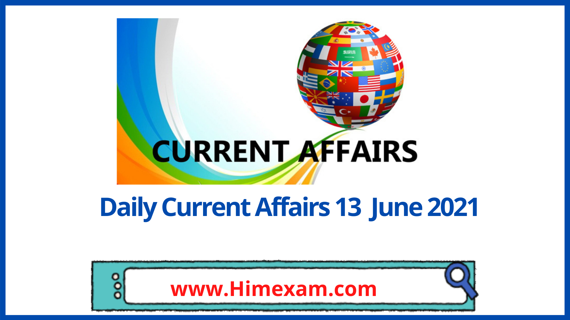 Daily Current Affairs 13 June 2021 In Hindi