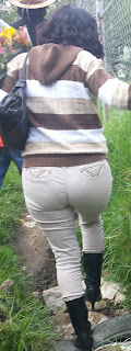 Linda morena calzon pantalones vestir