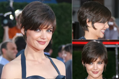 Katie Holmes short haircut with bangs
