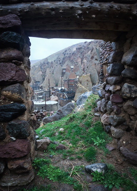 Kandovan in the rain, Iran